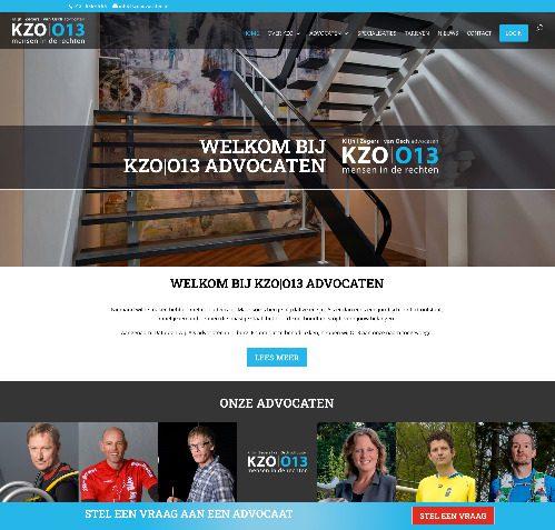 Oude homepage op de KZO013 advocaten in Tilburg