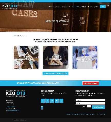 Oude specialisaties pagina bij KZO 013 advocaten in Tilburg