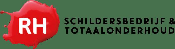 Het logo van het bedrijf RH schildersbedrijf en totaalonderhoud