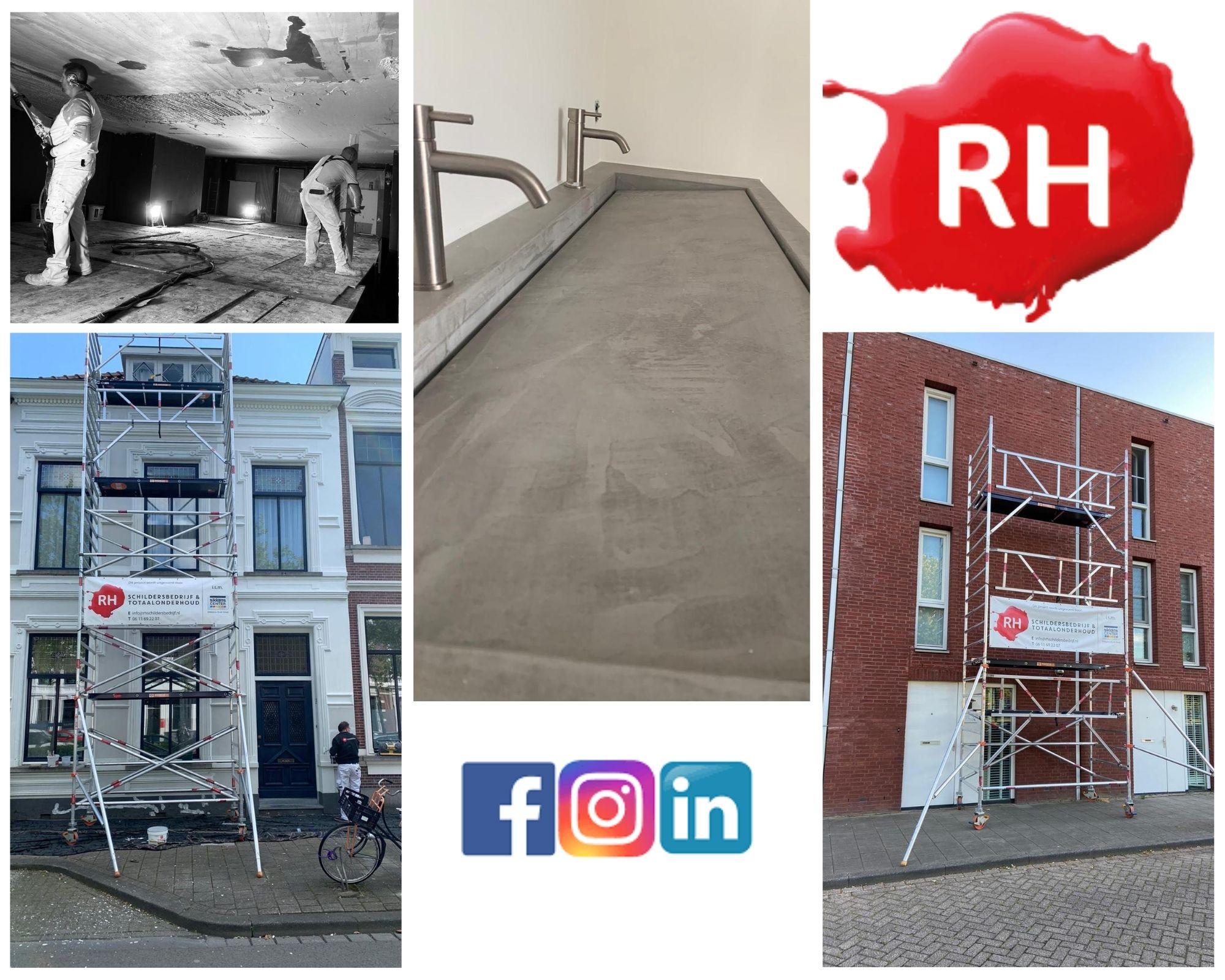 Social Media beheer voor RH schildersbedrijf en totaalonderhoud